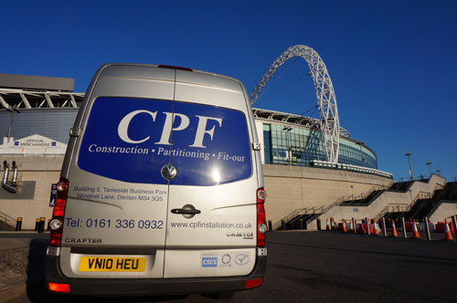 CPF crafter van positioned outside wembley stadium