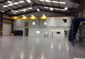 Fitout of warehouse and construction of 2 floors with offices on top of mezzanine with steel access stairs direct from warehouse