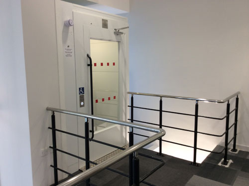 Equal access lift from the ground floor to first floor to allow access to offices for all abilities