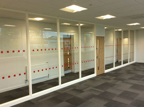 Bifold, Offices - Glass Partitioning, Manifestations and Flooring