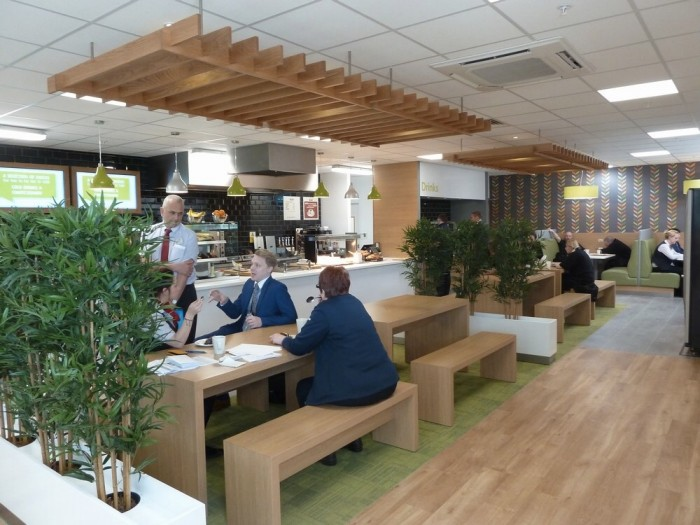 Tesco, Restaurant - Ceiling Rafts and Flooring