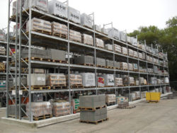 Galvanised shelving, racking, storage