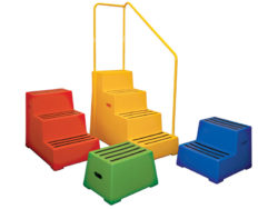 Plastic steps - access equipment